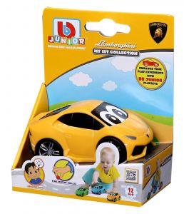 Autíčko Bburago  3,5''  ( 9 cm ) v dárkové polokrabičce  - Lamborghini Haracan - žluté