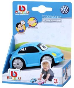 Autíčko Bburago  3,5''  ( 9 cm ) v dárkové polokrabičce  - Volkswagen Beetle - modré