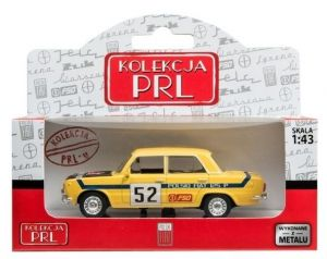 Autíčko PLR 1:43 - Fiat  125P Rally - žlutá barva