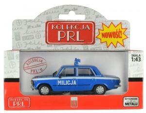Autíčko PLR 1:43 - Fiat 125P - Milicja - modrá barva