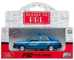 Autíčko PLR 1:43 - Polonez - Milicja - modrá barva