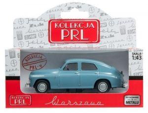 Autíčko PLR 1:43 -  Warszawa M-20 - modrošedá barva