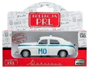 Autíčko PLR 1:43 - Warszawa M-20 - MO - bílá barva