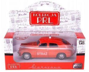 Autíčko PLR 1:43 - Warszawa M-20 - Straź - červená barva