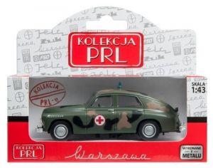 Autíčko PLR 1:43 - Warszawa - vojenská sanitka