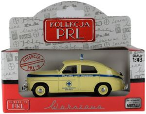 Autíčko PLR 1:43 - Warszawa - záchranka PL -  béžová barva