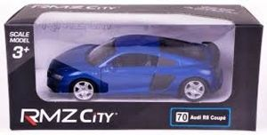 Autíčko RMZ 1:32 - Audi R8 Coupe 2019 - modrá  barva