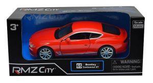 Autíčko RMZ 1:32 - Bentley Continental GT 2018 - červená barva