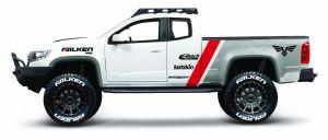 auto Maisto  1:24 Design - Chevroler Colorado  ZR2 2017 - bílá  barva