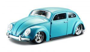 auto Maisto  1:24 Design - Volkswagen Beetle   - modrá  barva
