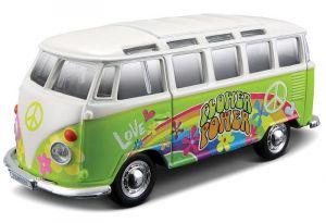 auto Maisto  1:25  Hippie -  Volkswagen Van Samba - zelená  barva