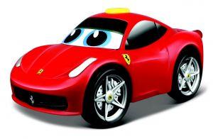 Bburago - jezdící autíčko Ferrari 458  se zvukem 13 cm - červené