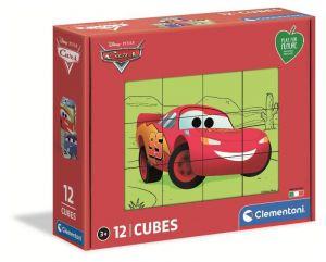 Clementoni - Obrázkové kostky ( kubus )  Play For Future  12  kostek -  CARS