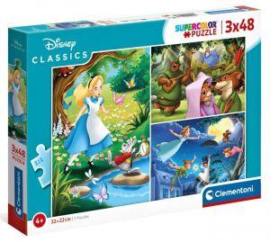 Dětské puzzle Clementoni  - 3 x 48 dílků  - Disney Classic  25267