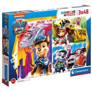 Dětské puzzle Clementoni  - 3 x 48 dílků  -  Paw Patrol - Tlapková patrola 25271