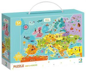 DoDo puzzle 100 díků - Mapa Evropy