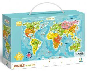DoDo puzzle 100 díků - Mapa Světa