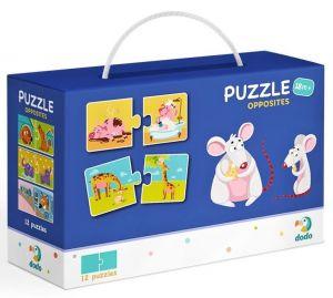 DoDo puzzle - 12 x 2 dílky -  Protiklady