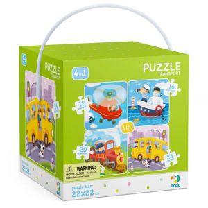 DoDo puzzle 4v1 - 12, 16, 20 a 24 dílků - Doprava
