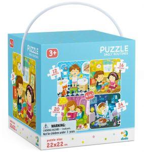 DoDo puzzle 4v1 - 12, 16, 20 a 24 dílků - Můj den