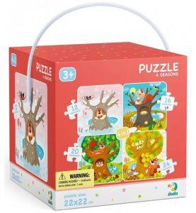 DoDo puzzle 4v1 - 12, 16, 20 a 24 dílků - Roční období