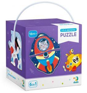 DoDo puzzle 6 v 1 - 2, 3 a 4 dílky  - Doprava