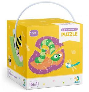 DoDo puzzle 6 v 1 - 2, 3 a 4 dílky  - Hmyz