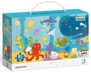 Dodo puzzle 80 dílků s hledáním obrázků -  Oceán a živočichové