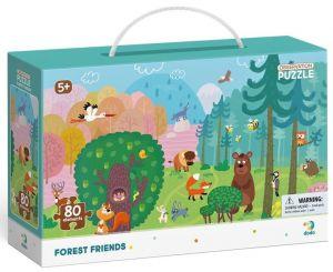 Dodo puzzle 80 dílků s hledáním obrázků -  V lese