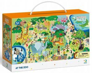 Dodo puzzle 80 dílků s hledáním obrázků -  V ZOO