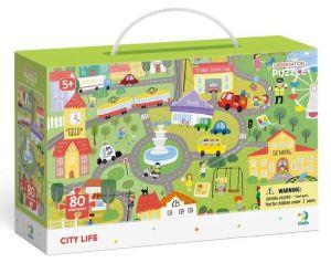 Dodo puzzle 80 dílků s hledáním obrázků -  Život ve městě