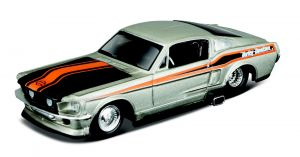 Maisto 1:64 11380 HD  - Ford Mustang GT 1968 - stříbrná  barva