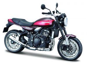 Maisto motorka 1:12 na  podstavci -  Kawasaki Z900RS  černo oranžová