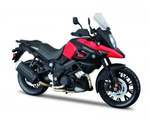 Maisto motorka 1:12 na  podstavci -  Suzuki V-Storm  červeno černá