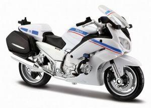 Maisto motorka 1:18 Yamaha FJR 1300A - France - Police  bílá