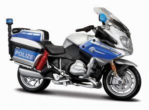 Maisto motorka 1:18 Yamaha FJR 1300A - Germany - Polizei  modro stříbrná