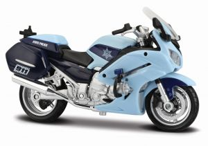 Maisto motorka 1:18 Yamaha FJR 1300A - US State Trooper - sv.modrá
