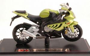 Maisto  motorka na stojánku se zn.BMW - BMW S1000 RR  1:18  zelená