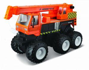 Maisto - Quarry Monsters - Autojeřáb 20 cm - oranžová  barva