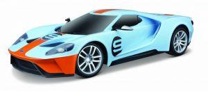 Maisto - RC auto - USB dobíjení - Ford GT Heritage 2019  1:24 - sv. modrý
