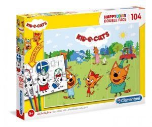 Puzzle Clementoni  - 104 dílků  HappyColor  - Kid e Cats  25707