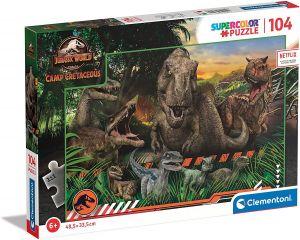 Puzzle Clementoni  - 104 dílků  -  Jurassic World  27545