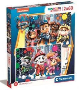 Puzzle Clementoni 2 x 60  dílků  - Paw Patrol   24787