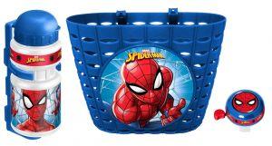 STAMP - sada doplňků ( košík, zvonek, láhev )  Spiderman