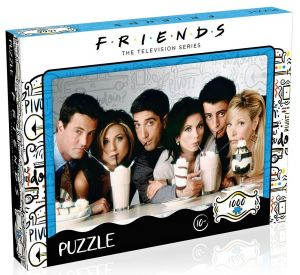 Winning Moves - puzzle 1000 dílků - Přátelé - Milkshake  39604