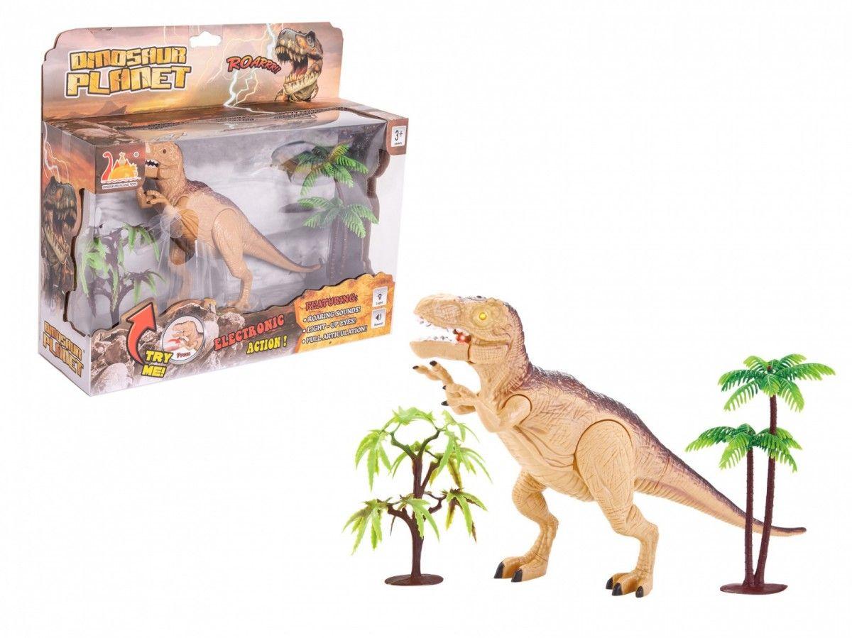 Askato - interaktivní dinosaurus s efekty - hnědý
