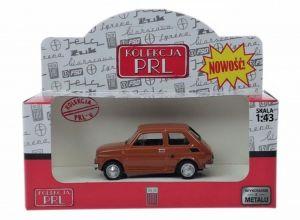 Autíčko PLR 1:43 - Fiat  1256P - hnědá barva