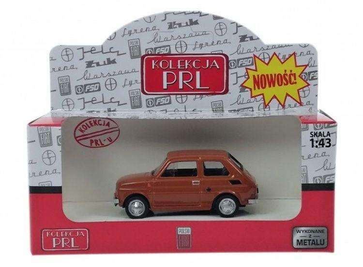 Autíčko PLR 1:43 - Fiat 1256P - hnědá barva Daffi