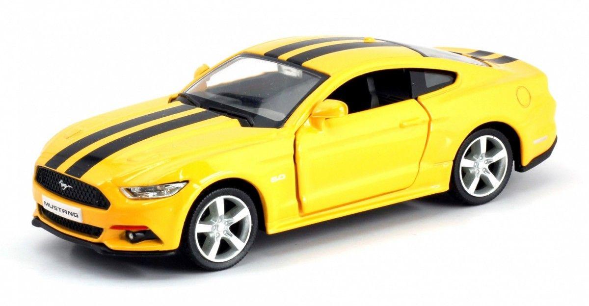 Autíčko RMZ 1:32 - 2015 Ford Mustang - žlutá barva Daffi