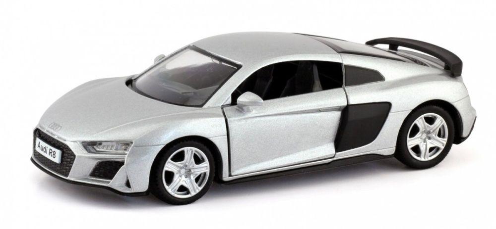 Autíčko RMZ 1:32 - Audi R8 Coupe - stříbrná barva Daffi